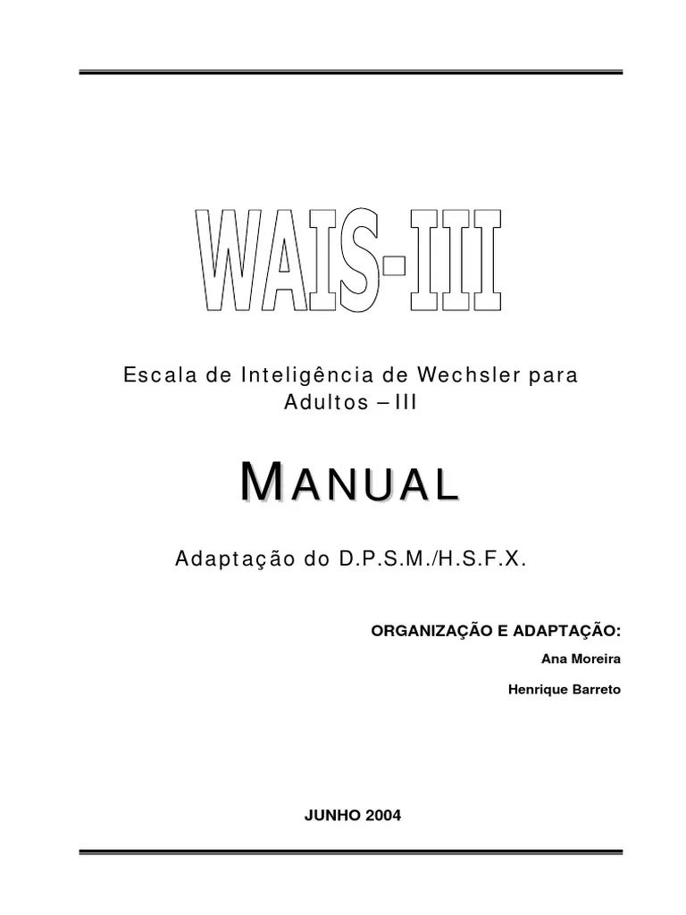 Wais Iii Manual Auto Electrical Wiring Diagram Volvo Penta Aq260 Harness