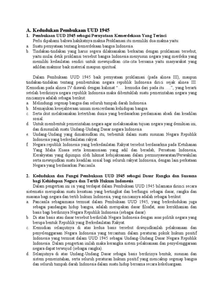 Kedudukan Pembukaan Uud Negara Republik Indonesia Tahun 1945 : kedudukan, pembukaan, negara, republik, indonesia, tahun, Sebutkan, Kedudukan, Pembukaan, Terhadap, Tertib, Hukum, Indonesia