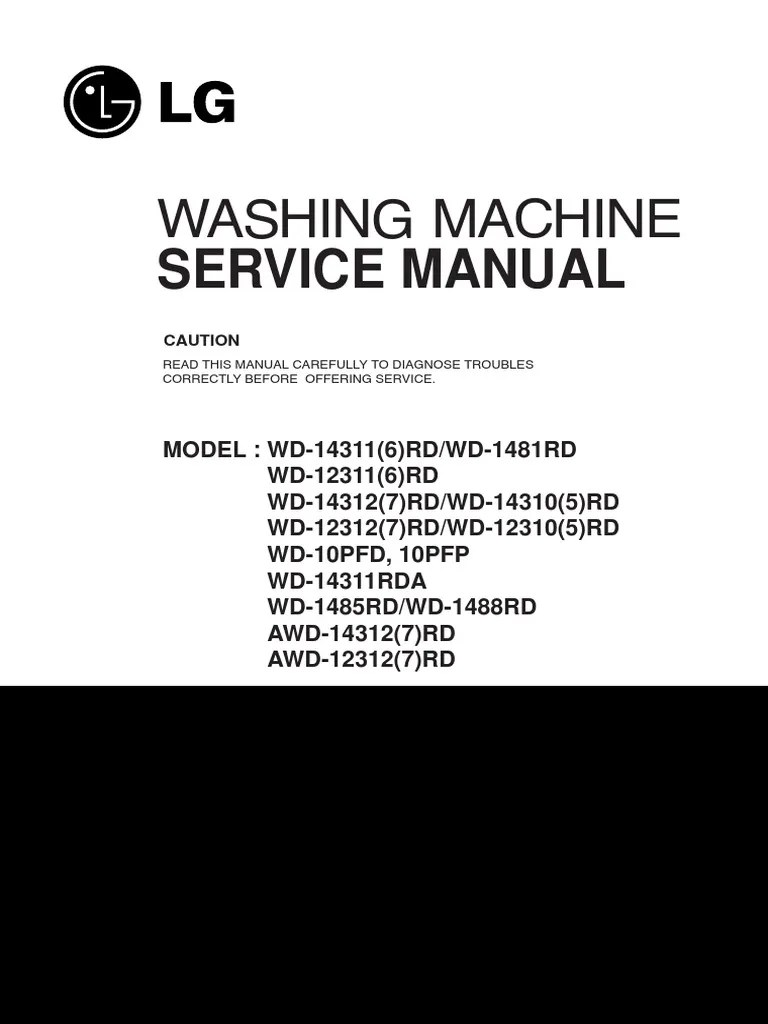 Wiring Diagram Washing Machine Lg