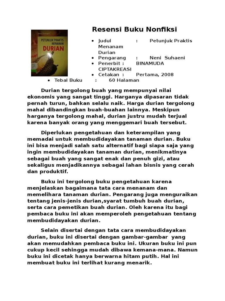 Ikhtisar Buku Non Fiksi : ikhtisar, fiksi, Resensi, Nonfiksi