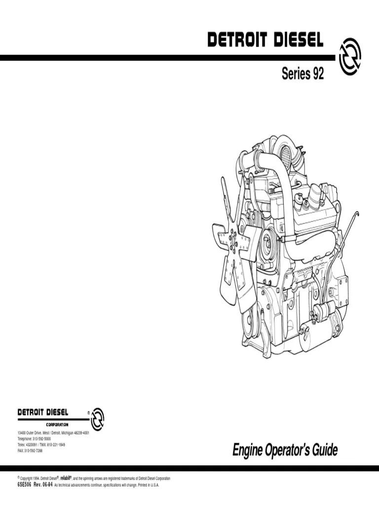medium resolution of  detroit sel 12v92sek pdf sel engine turbocharger on