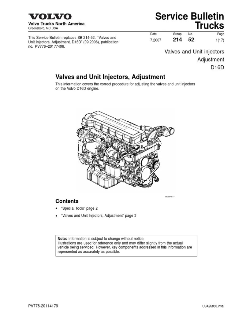 medium resolution of wrg 7045 volvo d12a engine diagram volvo d12 engine parts diagram valves and unit injectors