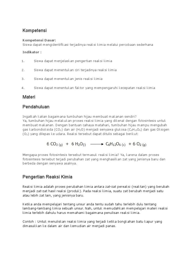 Proses Terjadinya Reaksi Kimia : proses, terjadinya, reaksi, kimia, Reaksi, Kimia