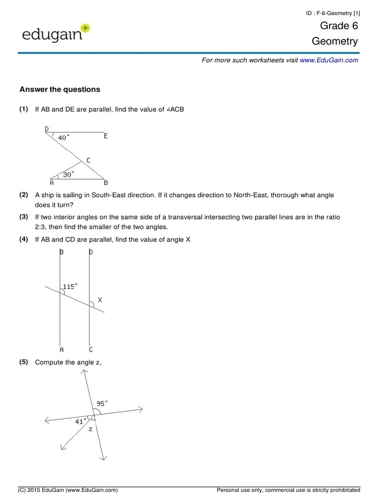 hight resolution of Grade6-Geometry.pdf   Angle   Triangle Geometry