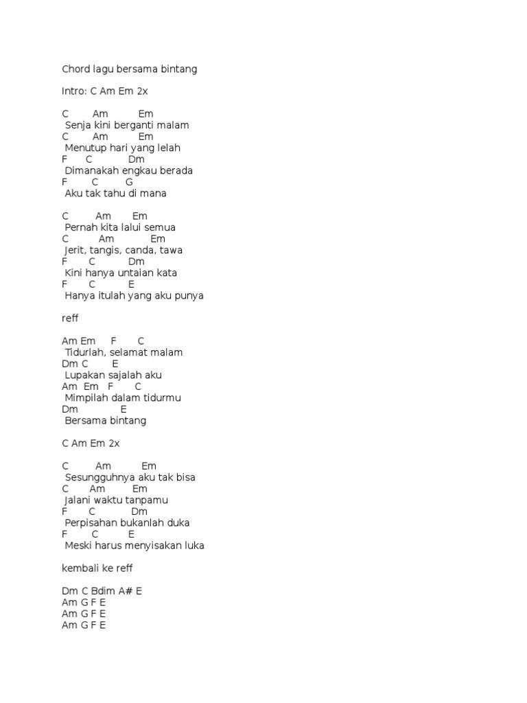 Drive Bersama Bintang Chord : drive, bersama, bintang, chord, Kunci, Gitar, Senja, Berganti, Malam, Mudah