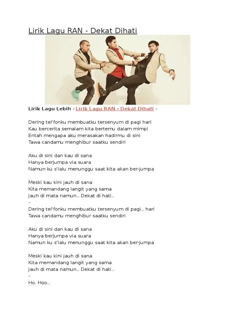 Lirik Lagu Dekat Di Hati : lirik, dekat, Lirik