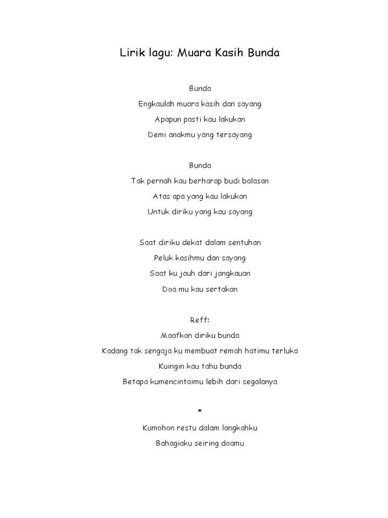 Lirik Lagu Muara Kasih Bunda : lirik, muara, kasih, bunda, Lirik