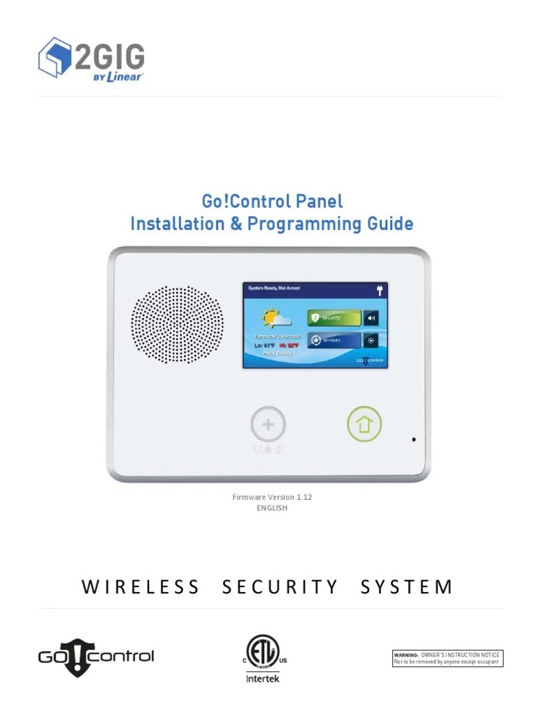 2gig go control installation and programming guide v1 3 security alarm electronics [ 768 x 1024 Pixel ]