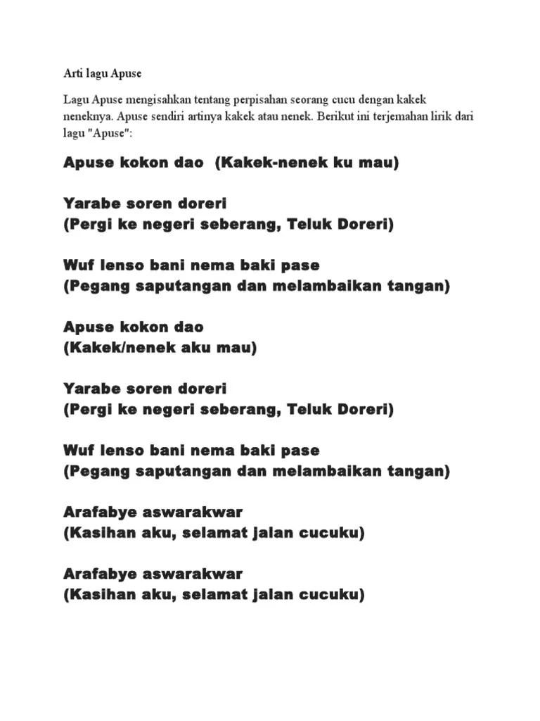 Lirik Lagu Apuse Dan Artinya : lirik, apuse, artinya, Dokumen, Serupa, Dengan, Apuse