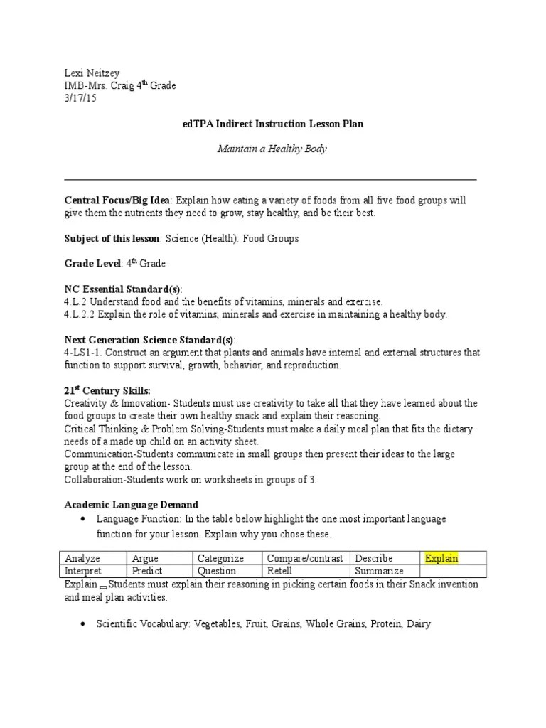 small resolution of imb science indirect lesson plan   Fruit   Foods