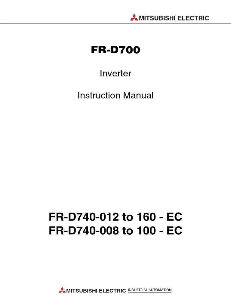 hight resolution of d700 instruction manual mitsubishi electric power inverter electrical wiring