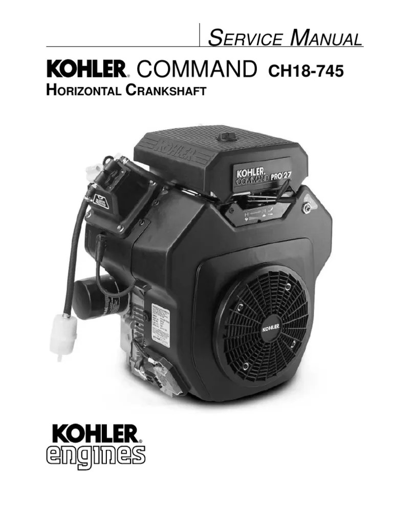 small resolution of  kohler ch26 service manual gasoline motor oil on ford wiring schematic honda wiring