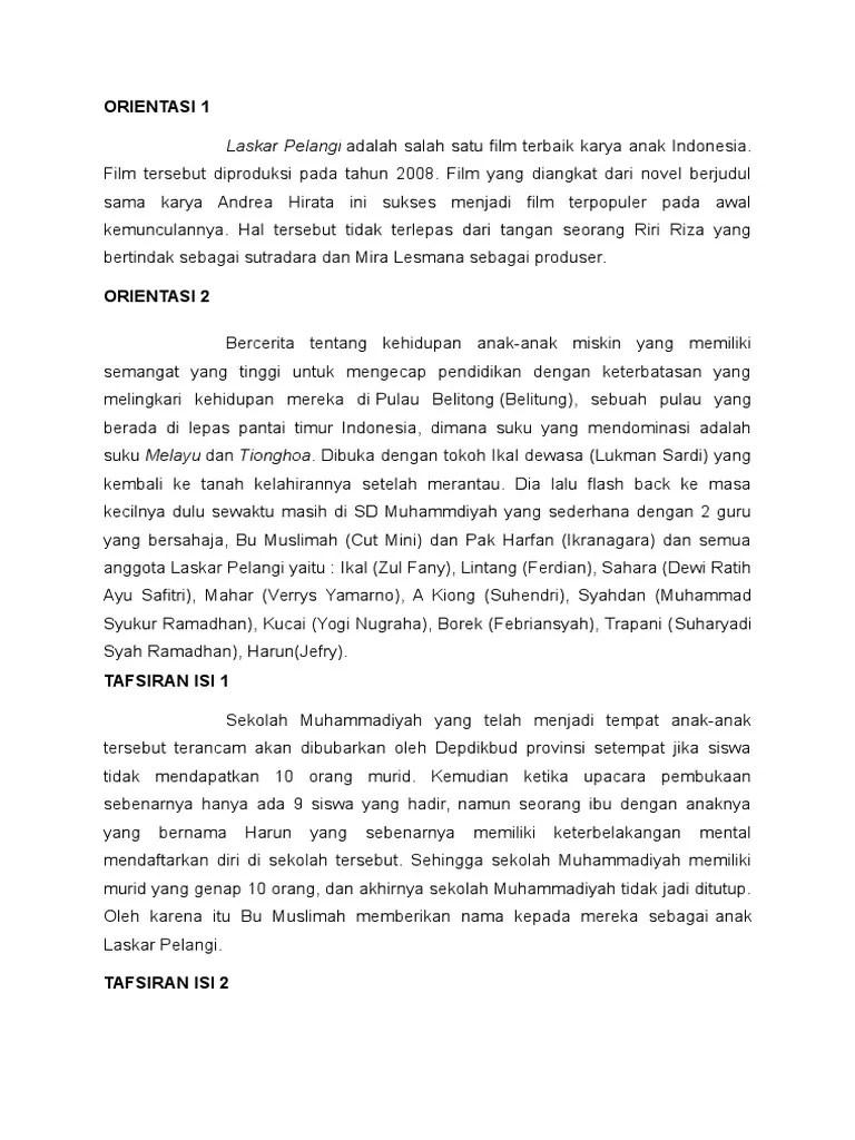 Contoh Teks Ulasan Novel Laskar Pelangi : contoh, ulasan, novel, laskar, pelangi, Ulasan, Laskar, Pelangi