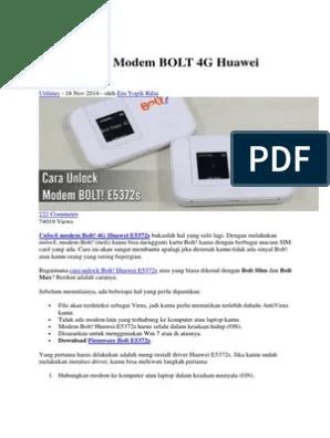 Cara Unlock Modem Bolt Orion : unlock, modem, orion, Unlock, Modem, E5372S