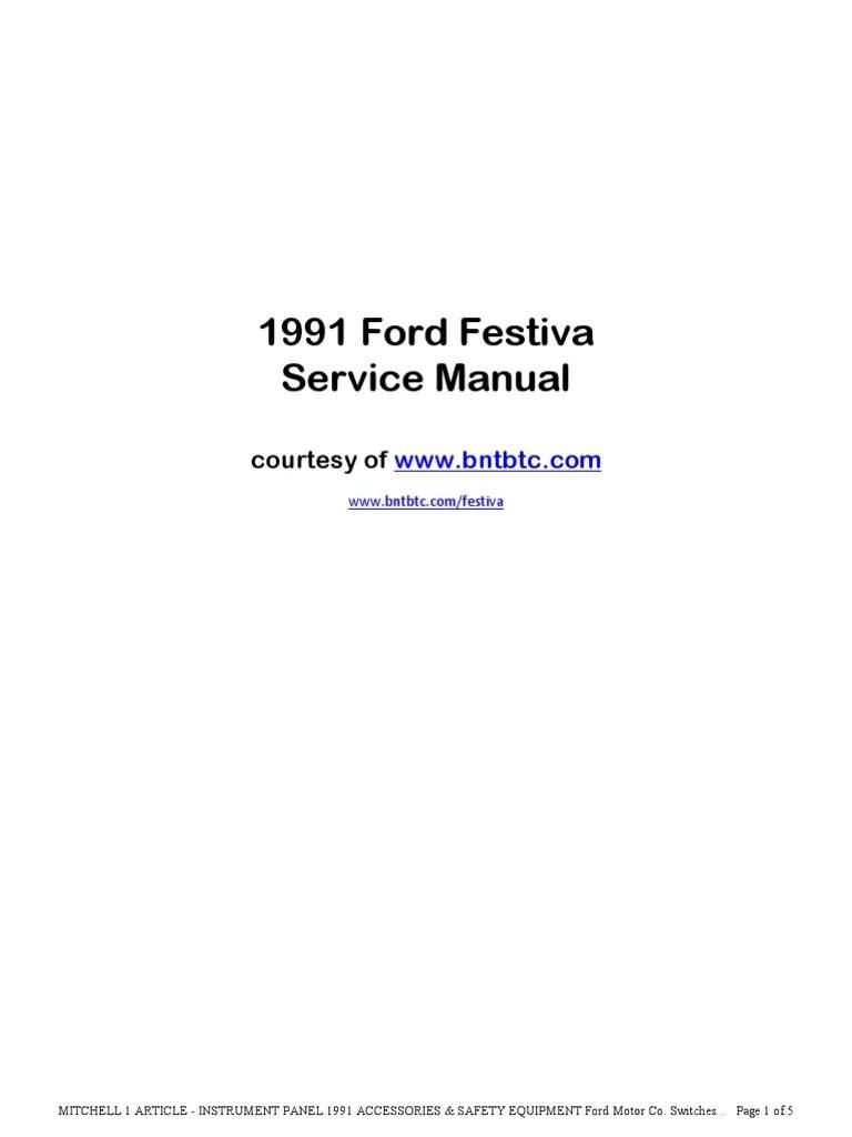 medium resolution of 1988 ford festiva ignition wiring diagram