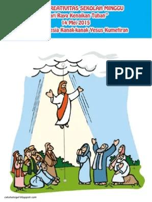 Tuhan Yesus Animasi : tuhan, yesus, animasi, Bahan, Kreativitas, Sekolah, Minggu, Kenaikan, Tuhan, Yesus, Kumetiran