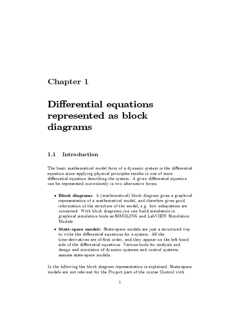 small resolution of block diagram differential equation