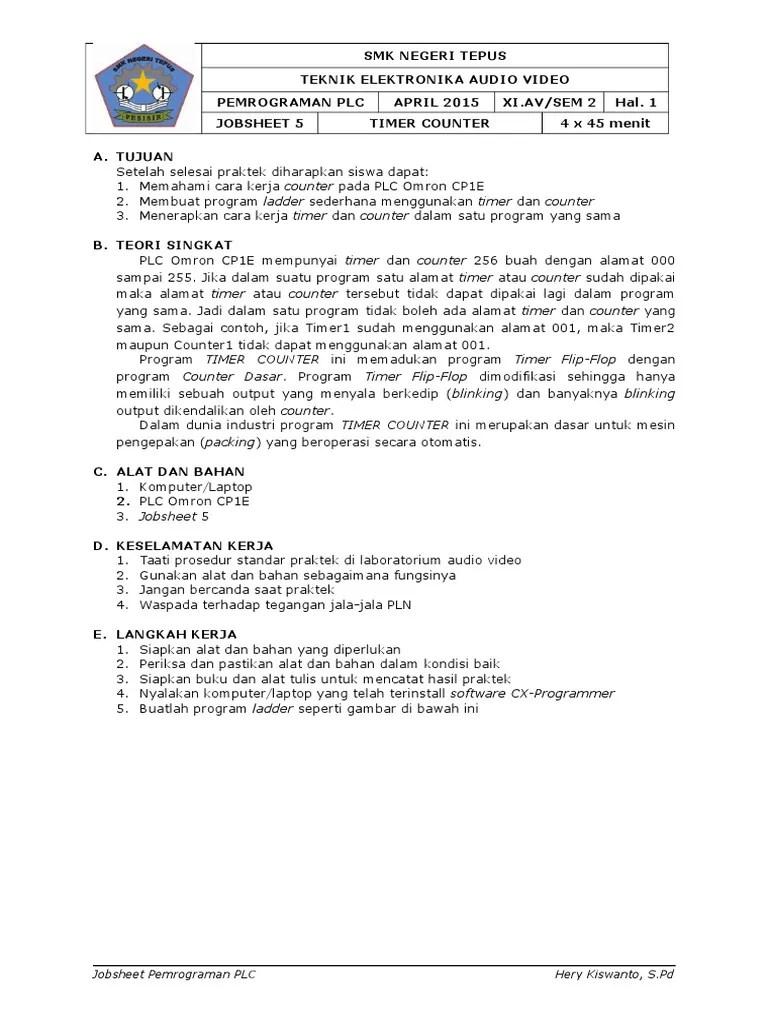 Cara Kerja Timer Omron : kerja, timer, omron, Jobsheet_5