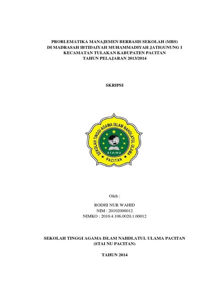 Daftar Judul Skripsi Pai Pendidikan Agama Islam Kualitatif Cute766