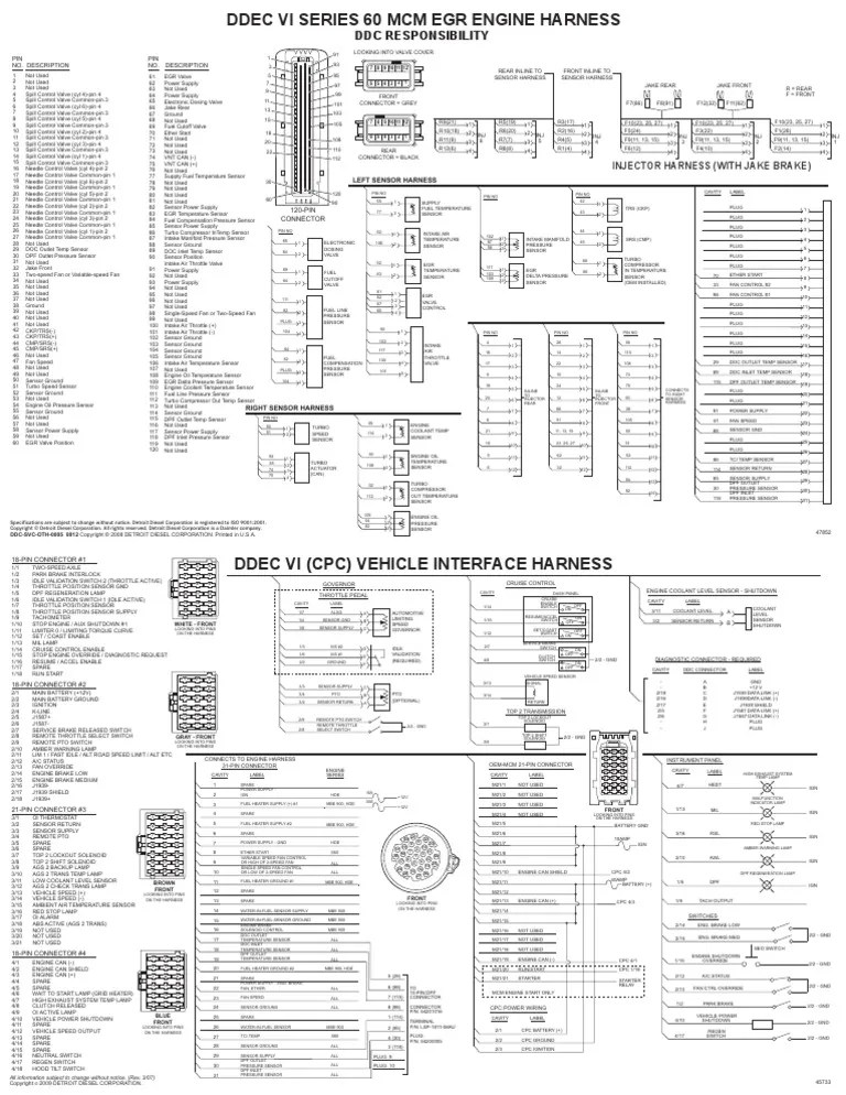 Ddec Ii Wiring Schematic DDEC III Electric Diagram Wiring