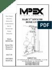 Weider 8630 Manual