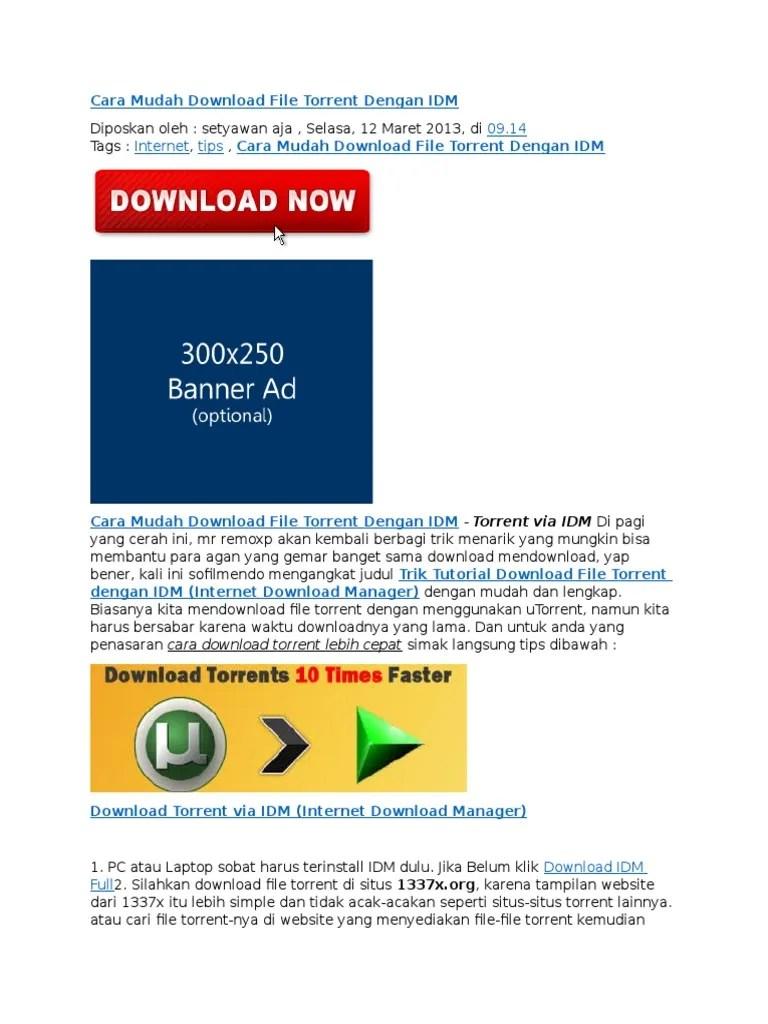 Cara Download File Torrent : download, torrent, Mudah, Download, Torrent, Dengan