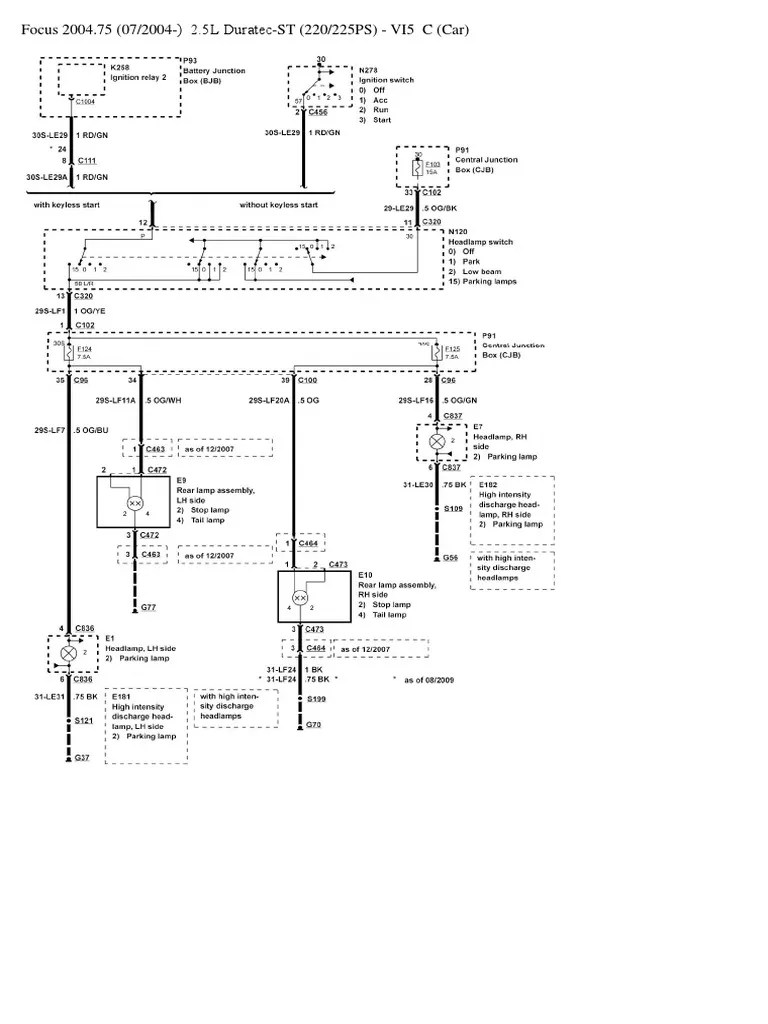 Ford Headlight Switch Wiring Diagram : headlight, switch, wiring, diagram, Focus, Headlight, Switch, Wiring, Diagram, Vehicles, Styles