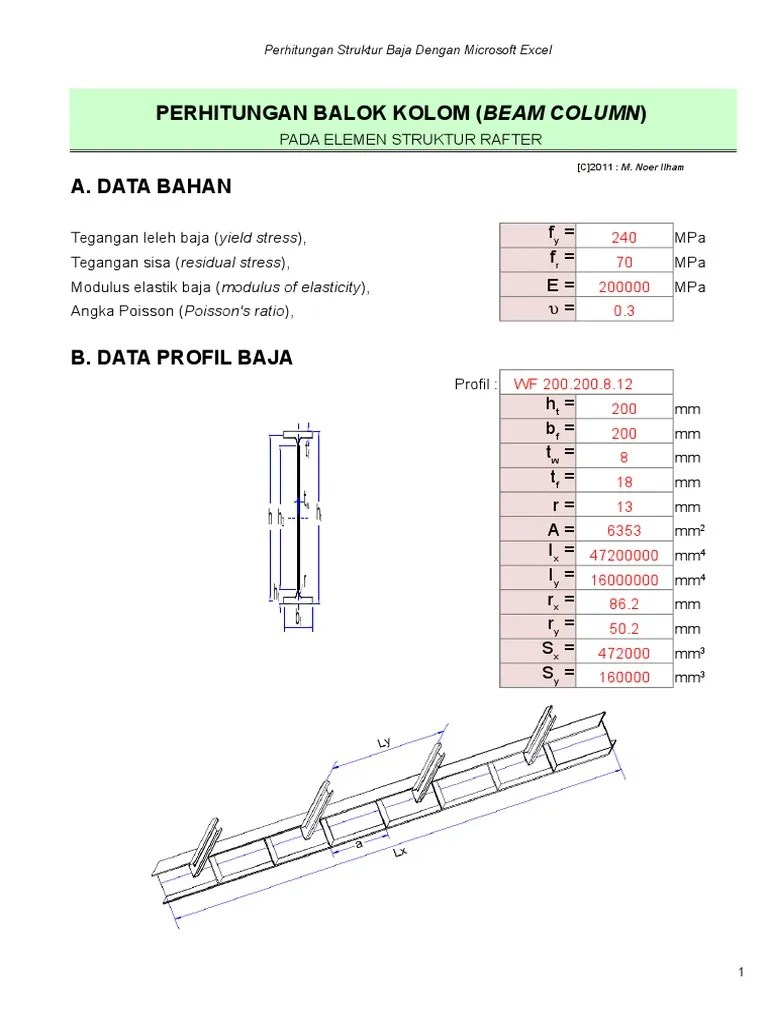 Perhitungan Kolom Baja Dengan Excel : perhitungan, kolom, dengan, excel, Perhitungan, Struktur, Dengan, Microsoft, Excel, Berbagi