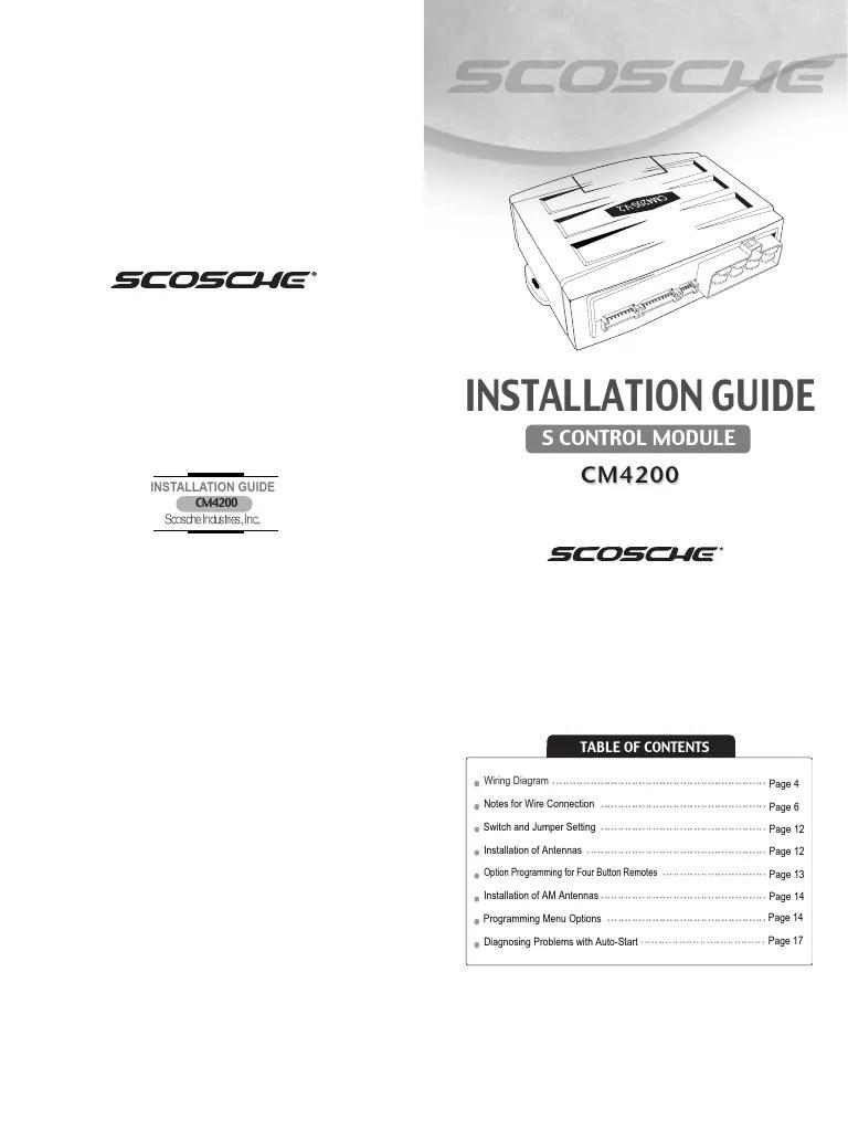 medium resolution of scosche remote start wiring diagram