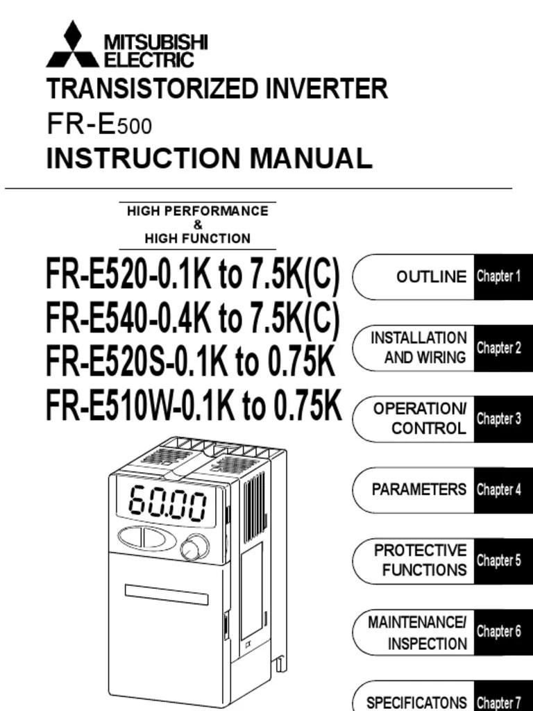 array inverter mitsubishi fr e500 intruction manual electrical wiring rh scribd com [ 768 x 1024 Pixel ]