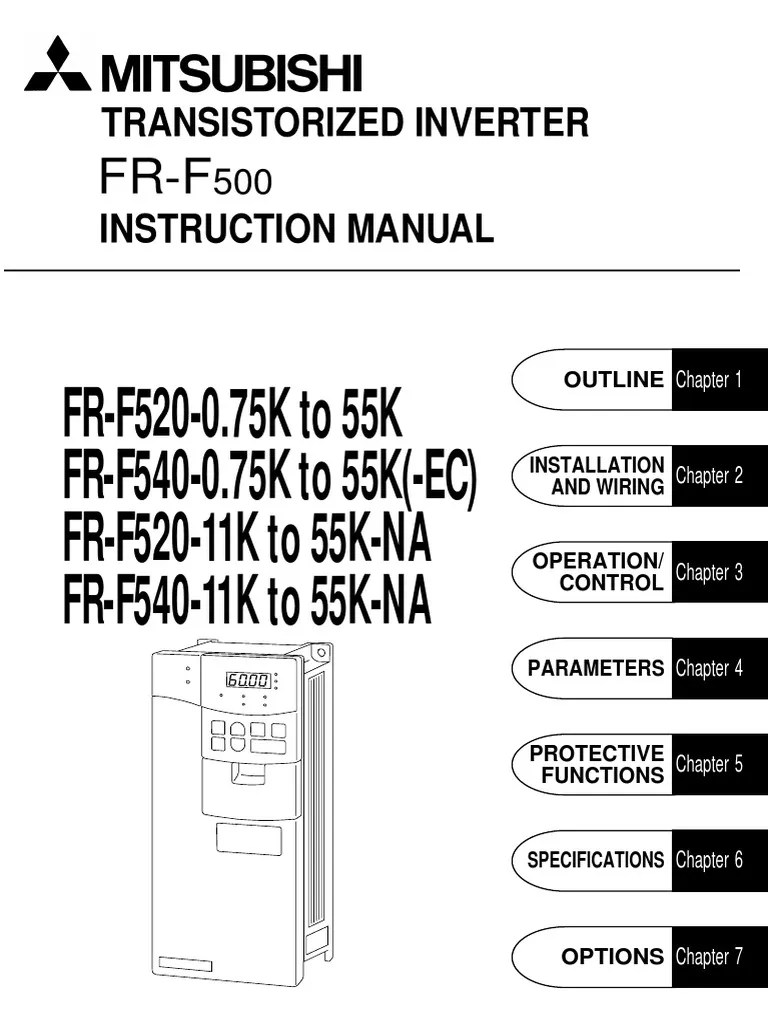 inverter mitsubishi fr f500 intruction manual electrical connector electrical wiring [ 768 x 1024 Pixel ]