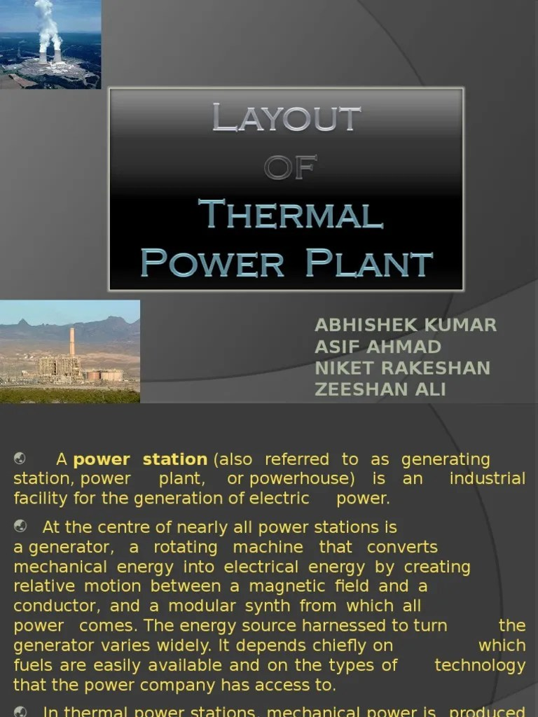 hight resolution of power plant electrical layout
