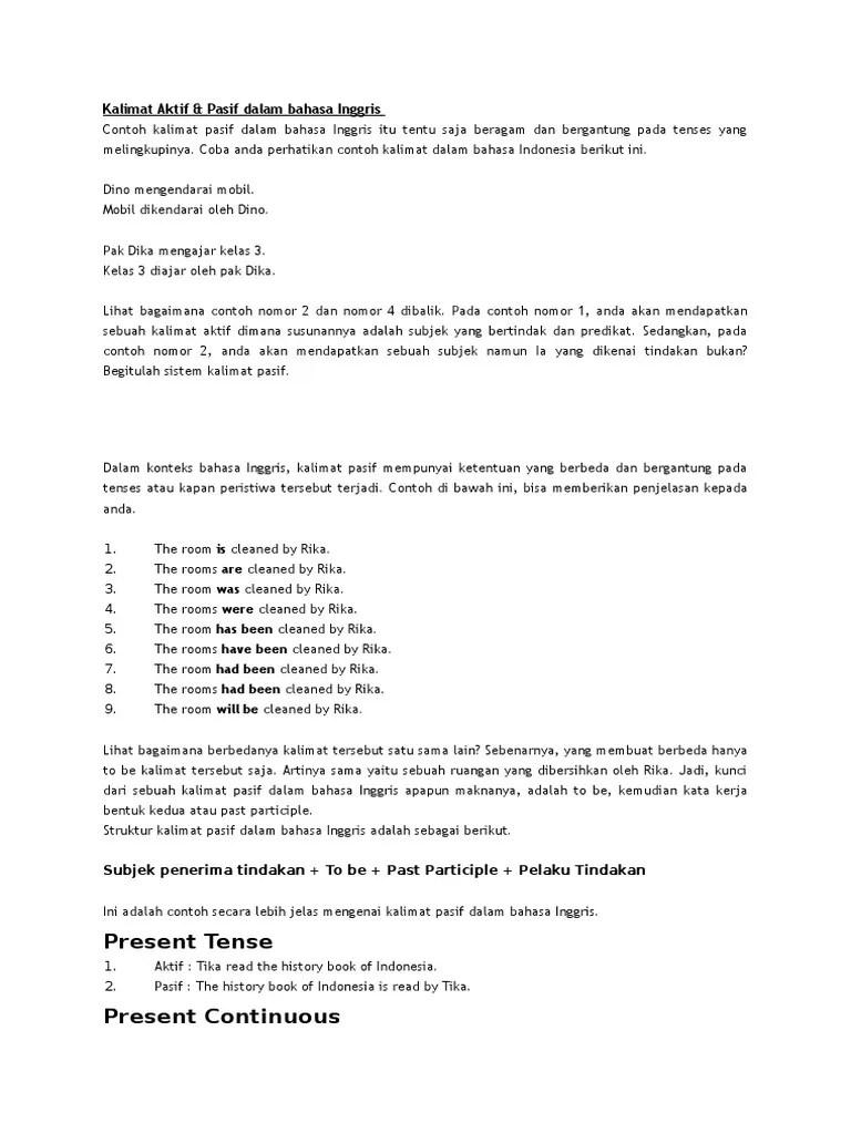 Kalimat Pasif Dan Aktif Dalam Bahasa Inggris : kalimat, pasif, aktif, dalam, bahasa, inggris, Kalimat, Aktif-Pasif, Dalam, Bahasa, Inggris, Indonesia, (Fiksi)