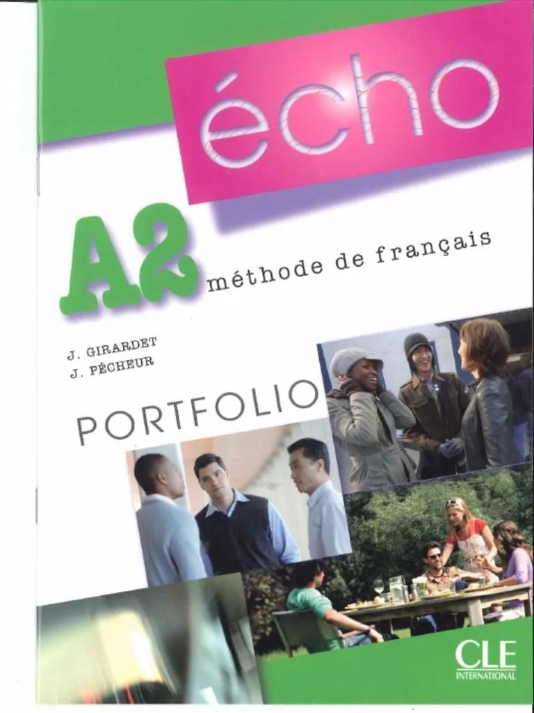 Echo A2 Livre Portfolio Pdf