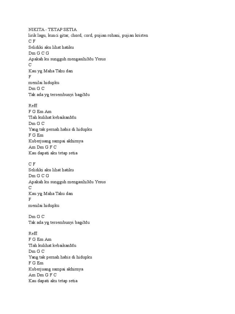 Chord Lagu Rohani Nikita : chord, rohani, nikita, Chord, Rohani, Kristen, Bagaikan, Bejana