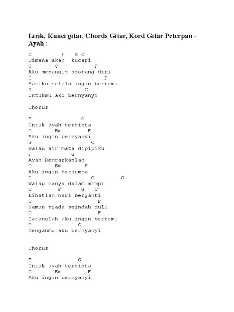 Chord Ayah Seventeen : chord, seventeen, Lirik, Kunci, Gitar, Ujian, Cute766
