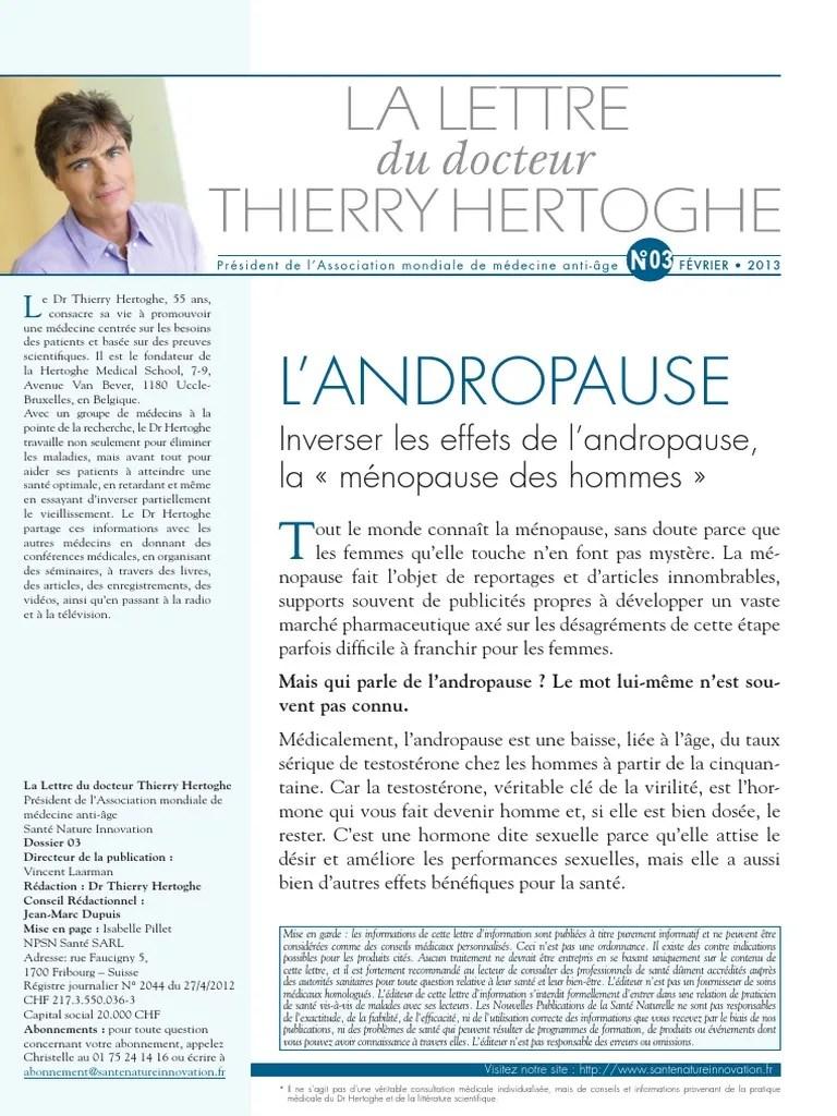 Combien De Temps Dure L Andropause : combien, temps, andropause, Lettre, Andropause, FEB2013, Testostérone, Utérus