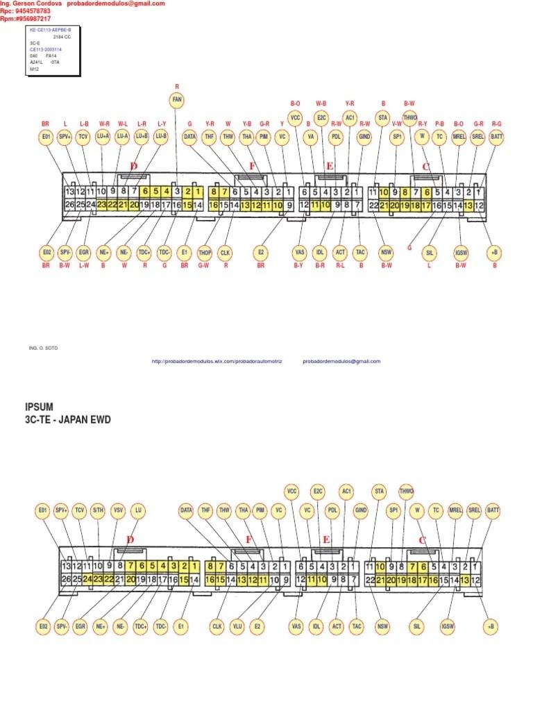 small resolution of toyotum wiring diagram ecu pinout