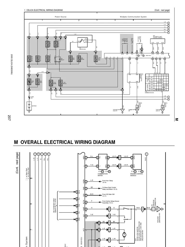 hight resolution of toyota celica wiring diagram rh scribd com 2000 toyota celica gts speaker wiring diagram 2000 toyota celica gt ac wiring diagram