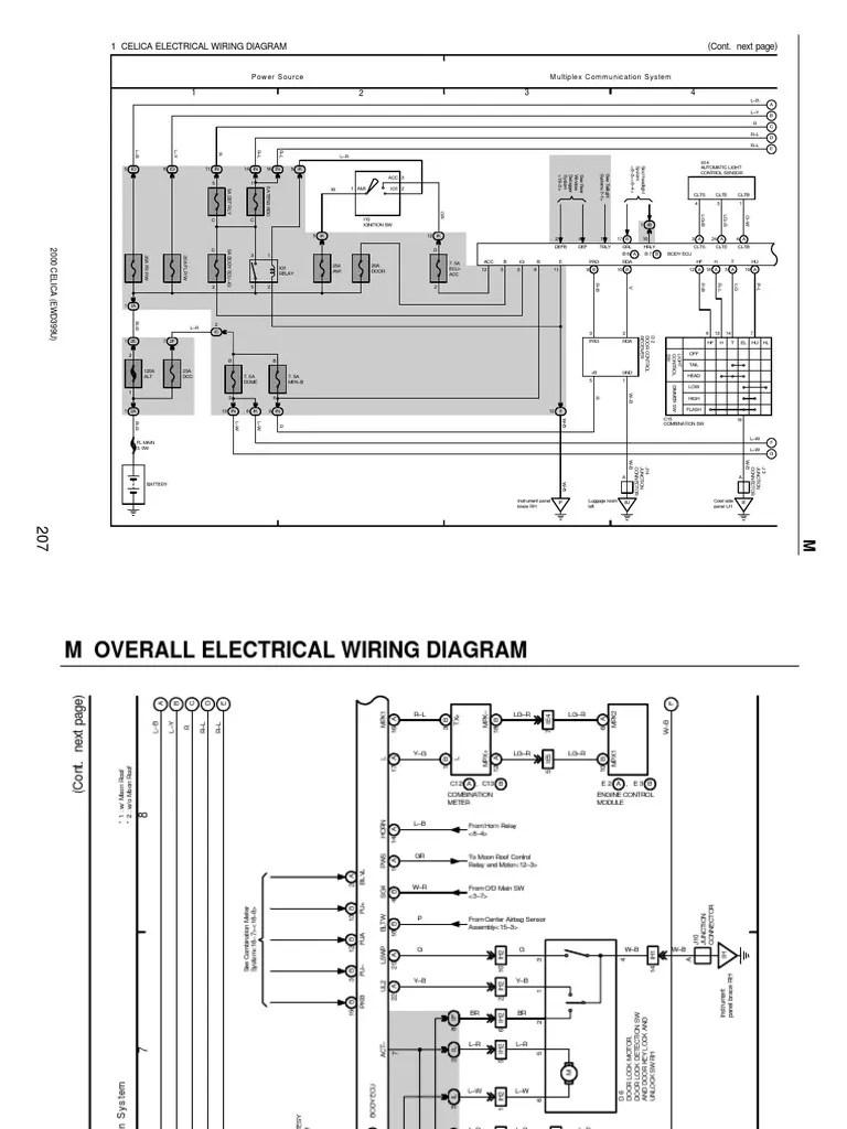 small resolution of toyota celica wiring diagram rh scribd com 2000 toyota celica gts speaker wiring diagram 2000 toyota celica gt ac wiring diagram