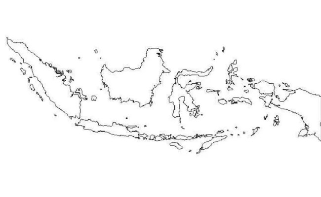 Peta Buta Indonesia World Map Weltkarte Peta Dunia Cute766