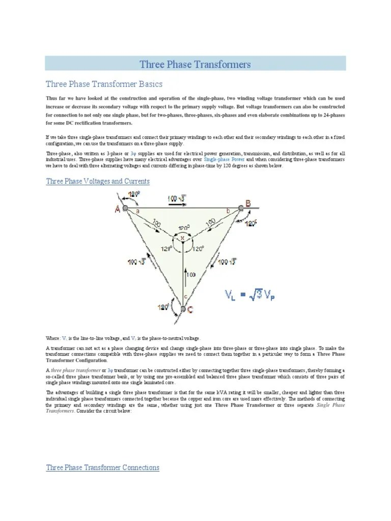 hight resolution of single phase transformer wiring connection