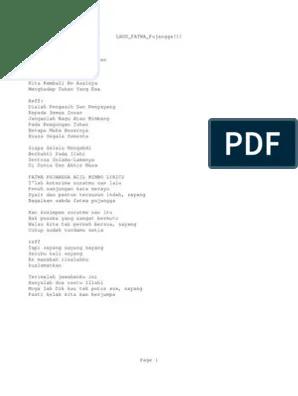 Fatwa Pujangga Lirik : fatwa, pujangga, lirik, Fatwa, Pujangga[1]