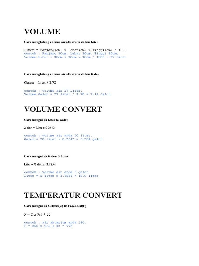 Menghitung Volume Air : menghitung, volume, Menghitung, Liter