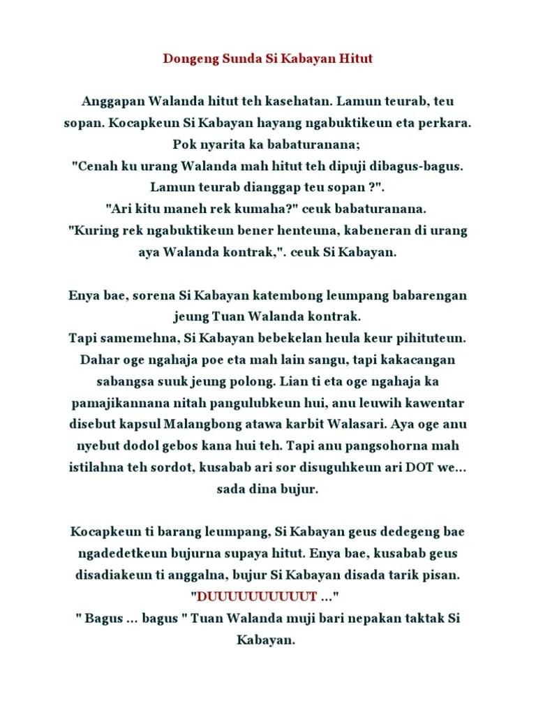 Dongeng Sunda Si Kabayan : dongeng, sunda, kabayan, Dongeng, Sunda, Kabayan, Hitut.doc