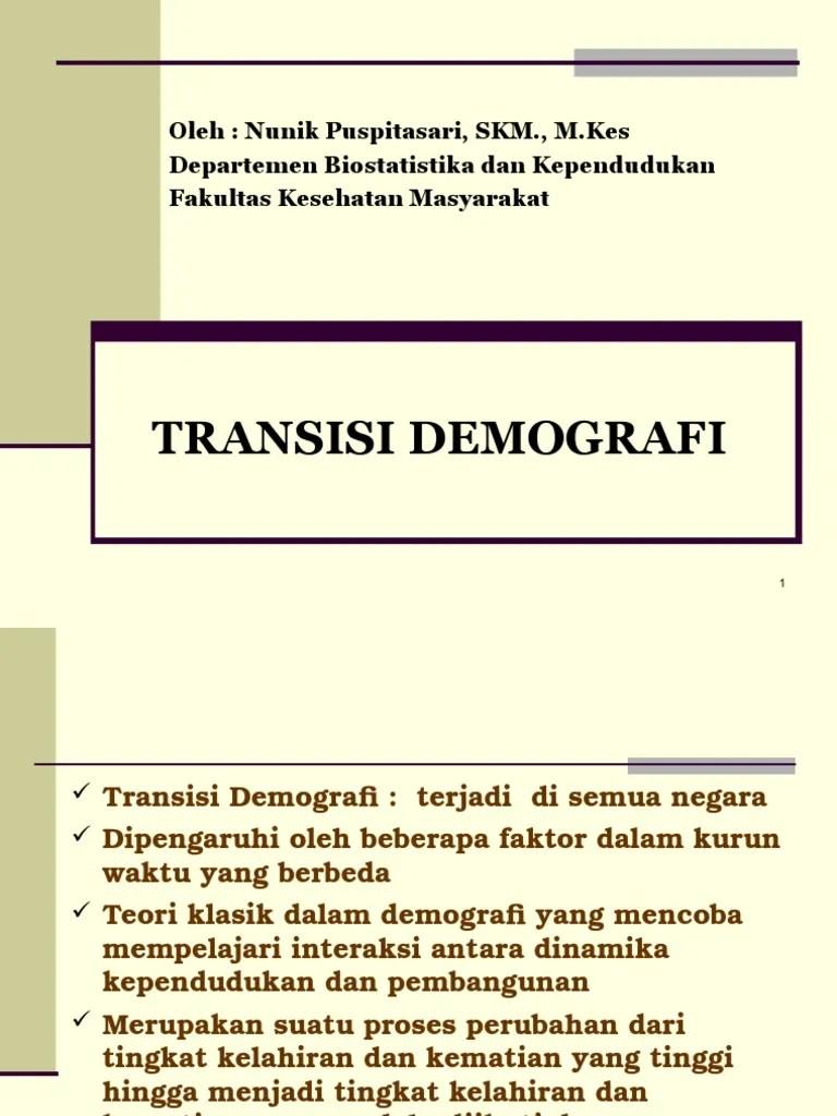 Pengertian Transisi : pengertian, transisi, Transisi, Demografi