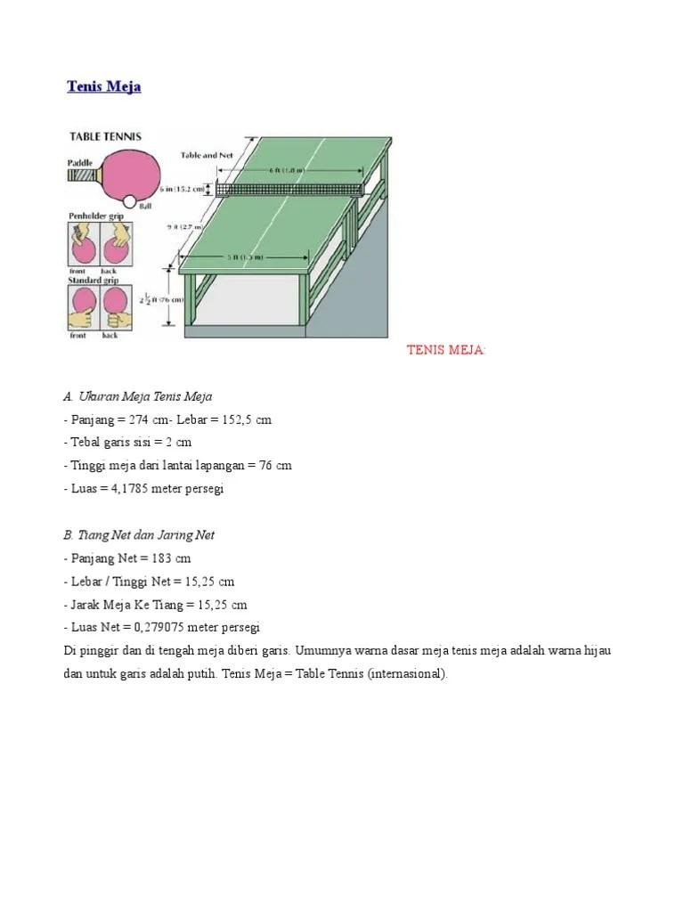 Luas Lapangan Tenis : lapangan, tenis, Lebar, Tenis, Yaitu, MEJADWAL