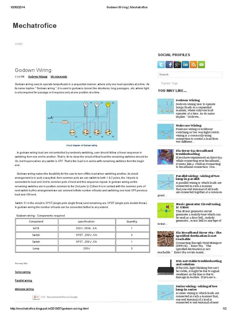 Godown Wiring Diagram Electrical