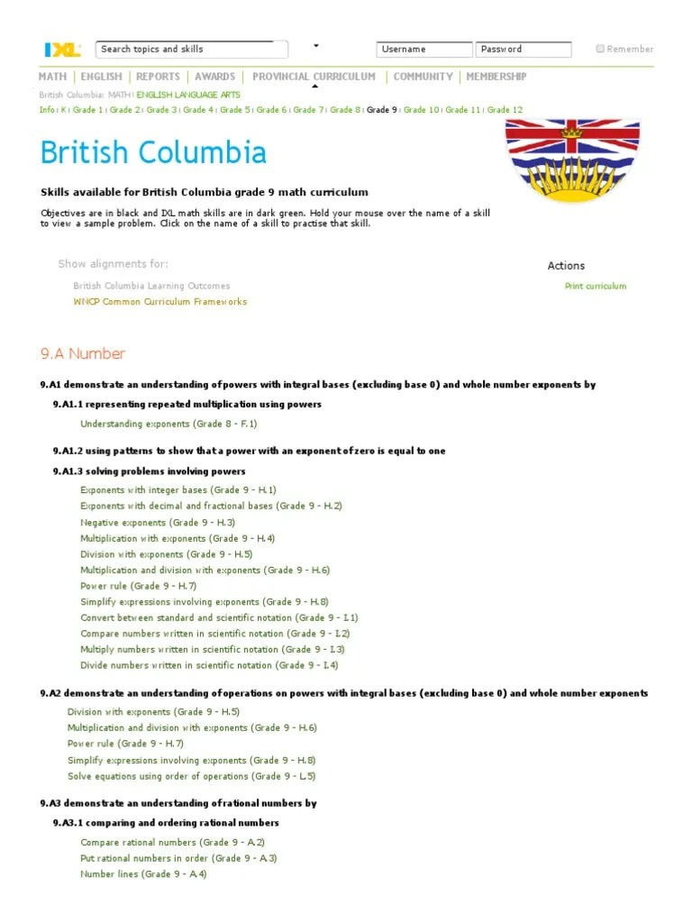 IXL - British Columbia Grade 9 Math Curriculum   Equations   Exponentiation [ 1024 x 768 Pixel ]
