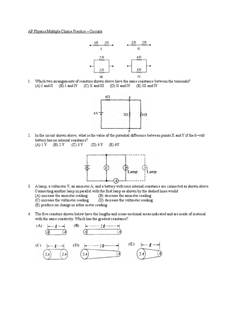 small resolution of 11a circuits mc practice problems series and parallel circuits capacitor